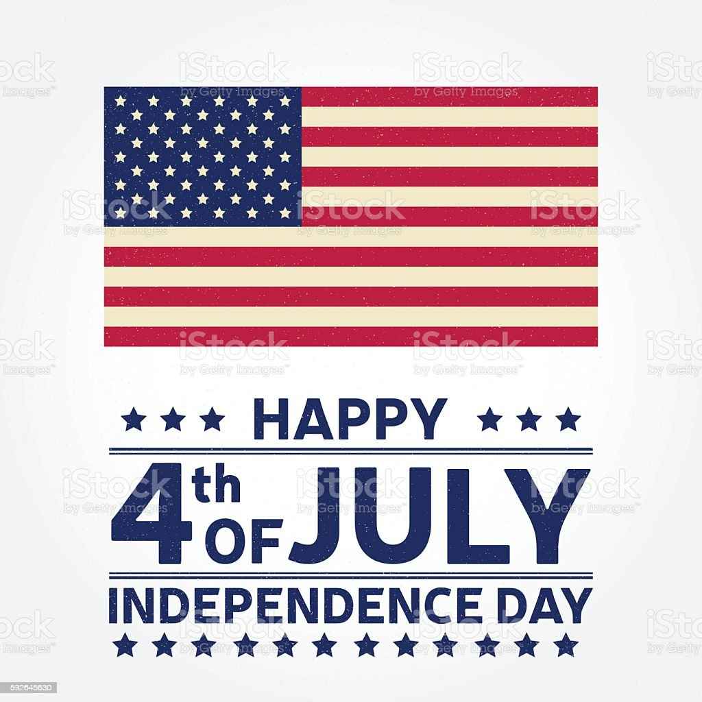 Happy Independence Day background template. vector art illustration