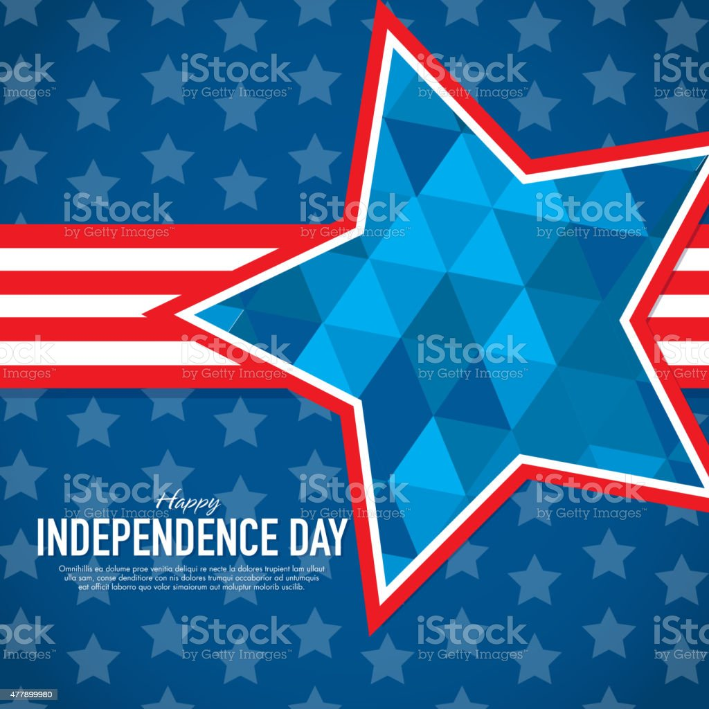 Happy Independence Day Celebration greeting card design template vector art illustration