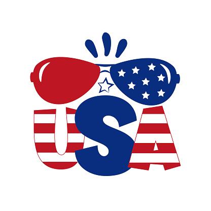 USA-  Happy Independence Day, design illustration.