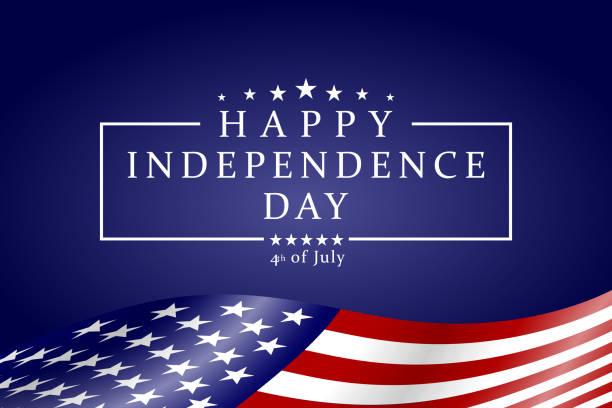 행복 독립 기념일-7 월의 4 배경. 7 월 넷째 디자인. 미국 독립 기념일 배너입니다. 벡터. - independence day stock illustrations