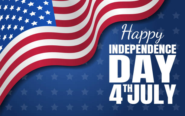 Happy Independence Day. Fourth of July. National holiday. Vector illustration Happy Independence Day. Fourth of July. National holiday. Vector illustration july 4th stock illustrations