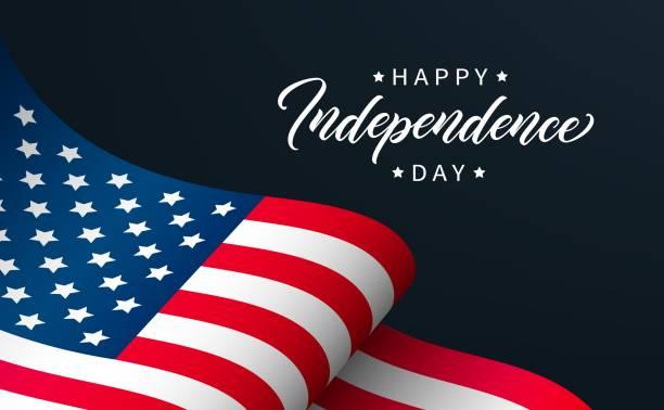 ilustraciones, imágenes clip art, dibujos animados e iconos de stock de diseño de tarjeta de felicitación del día de la independencia feliz. - independence day
