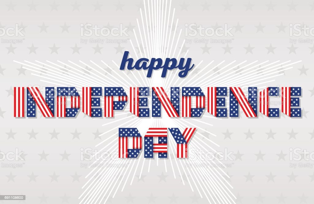 Happy Independence Day greeting card for USA national holiday. Vector illustration. vector art illustration
