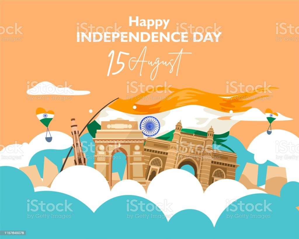 Happy Independence Day India 15 August For Flyer Poster