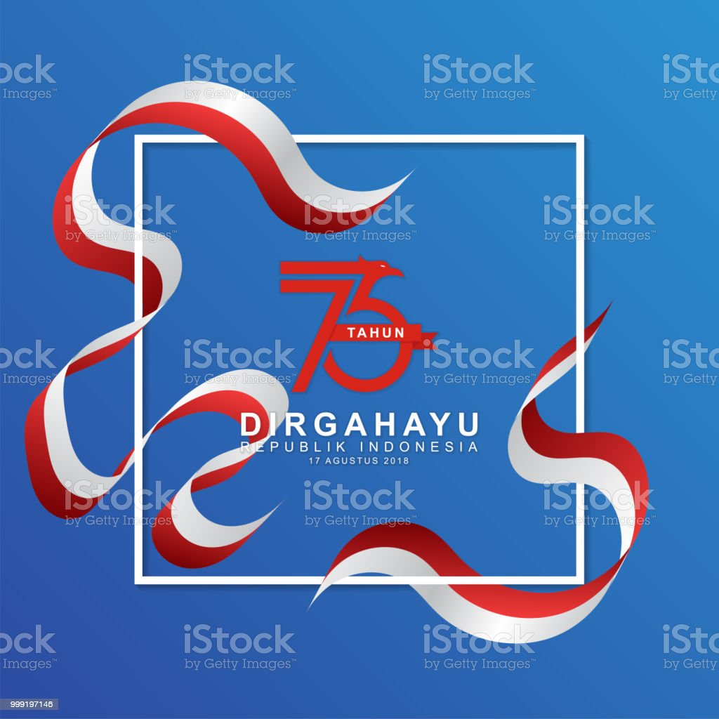 Happy independence day indonesian vector art illustration