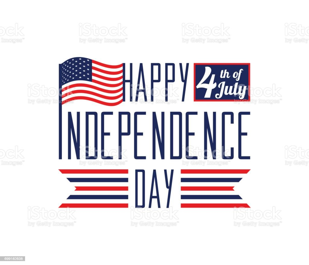 Happy Independence Day July 4th Usa Memorial Day Flag Day ...
