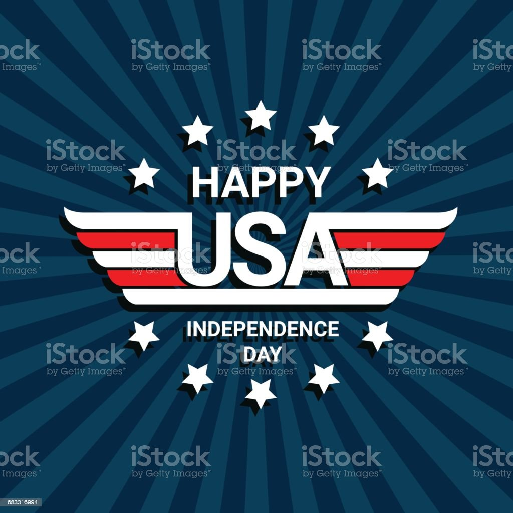 Happy independence day of USA royalty-free happy independence day of usa stock vector art & more images of abstract