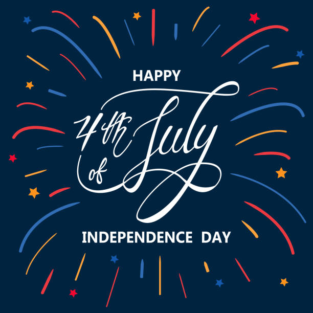 快樂獨立日或 7 月 4 日向量背景或橫幅圖形 - happy 4th of july 幅插畫檔、美工圖案、卡通及圖標