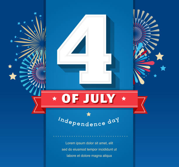 happy independence day united states of america 4 th july vector art illustration