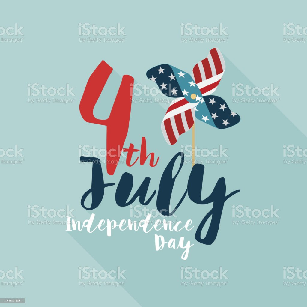 Happy independence day United States of America, 4th of July vector art illustration