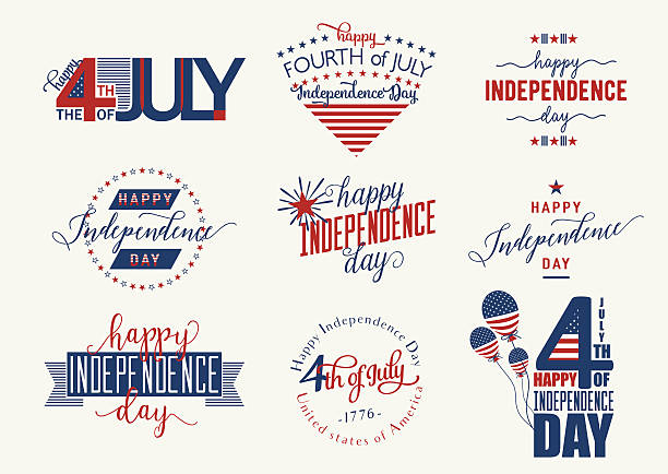 Happy Independence Day United States overlay. Fourth of July - vector art illustration