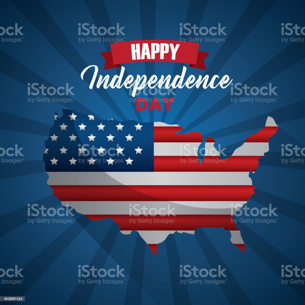 happy independence day vector art illustration