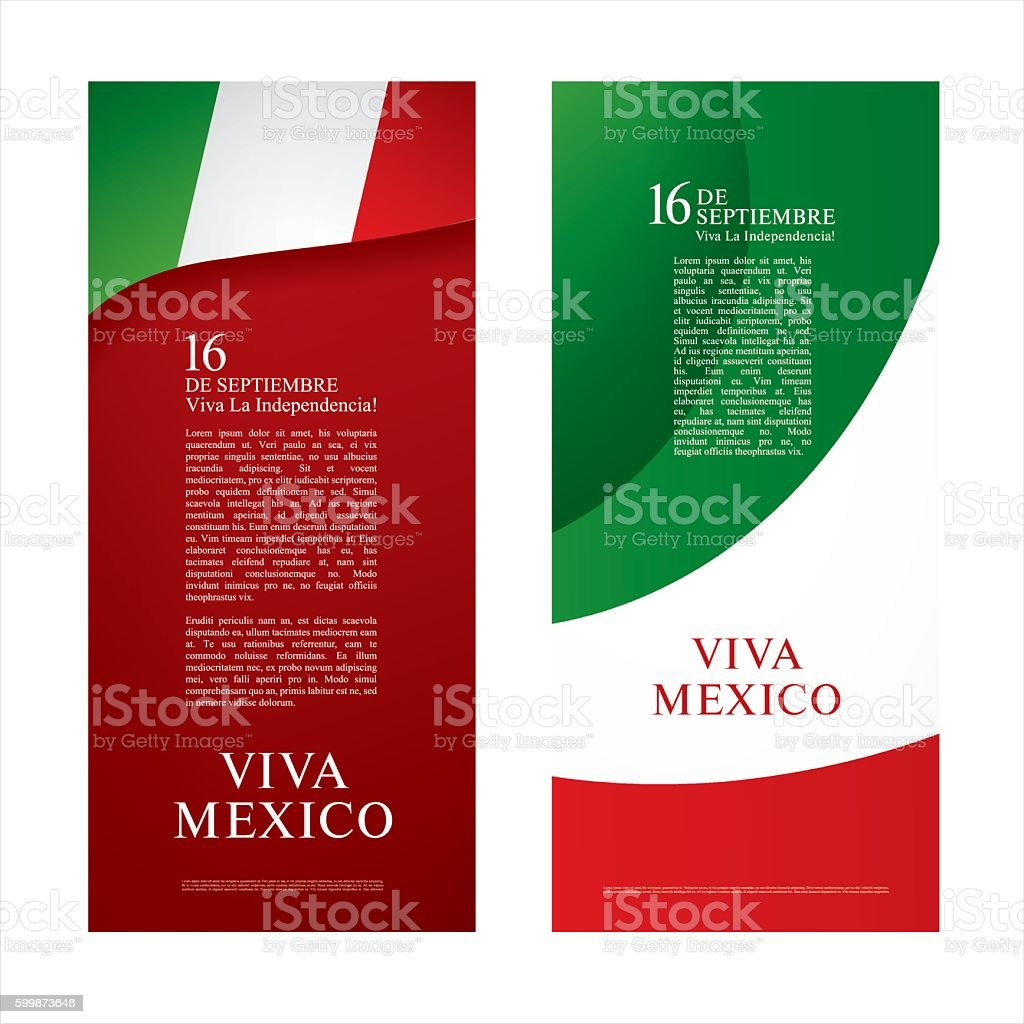 Happy Independence day! Viva Mexico! vector art illustration