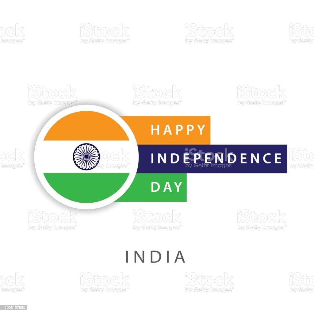 Ilustración de India Feliz Día De La Independencia Vector Plantilla ...