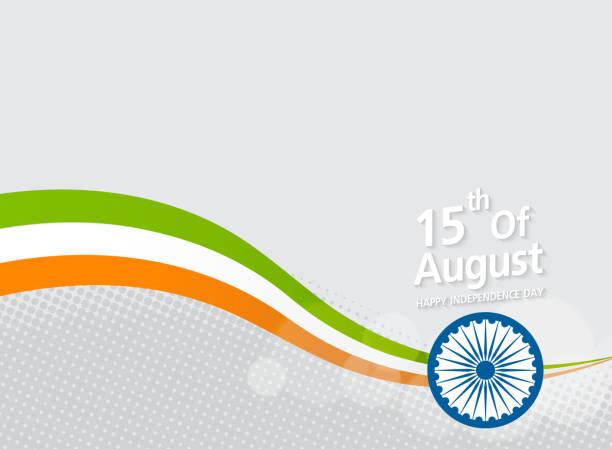 Happy Indian Independence Day celebration  on flag color Happy Indian Independence Day celebration  on flag color halftone effect background nu stock illustrations