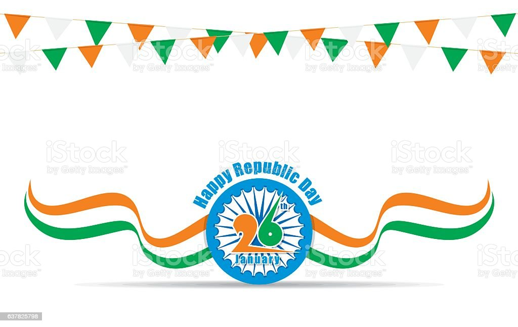 happy indian republic day vector art illustration