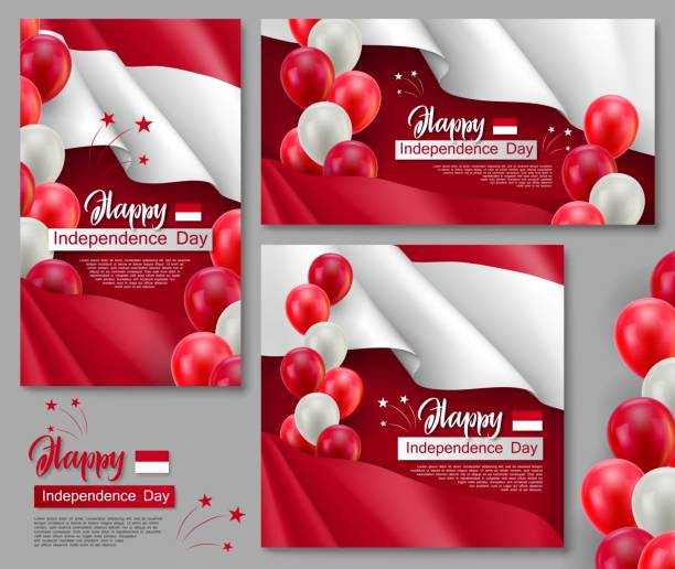independence day indonesia illustrations royaltyfree