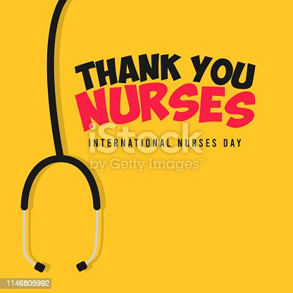 Happy international nurses day vector template. design for thank nurses day. Design for banner, greeting cards or print.