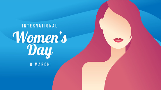 Happy International Women's Day. International Women's Day on March 8th flat design vector illustrations.