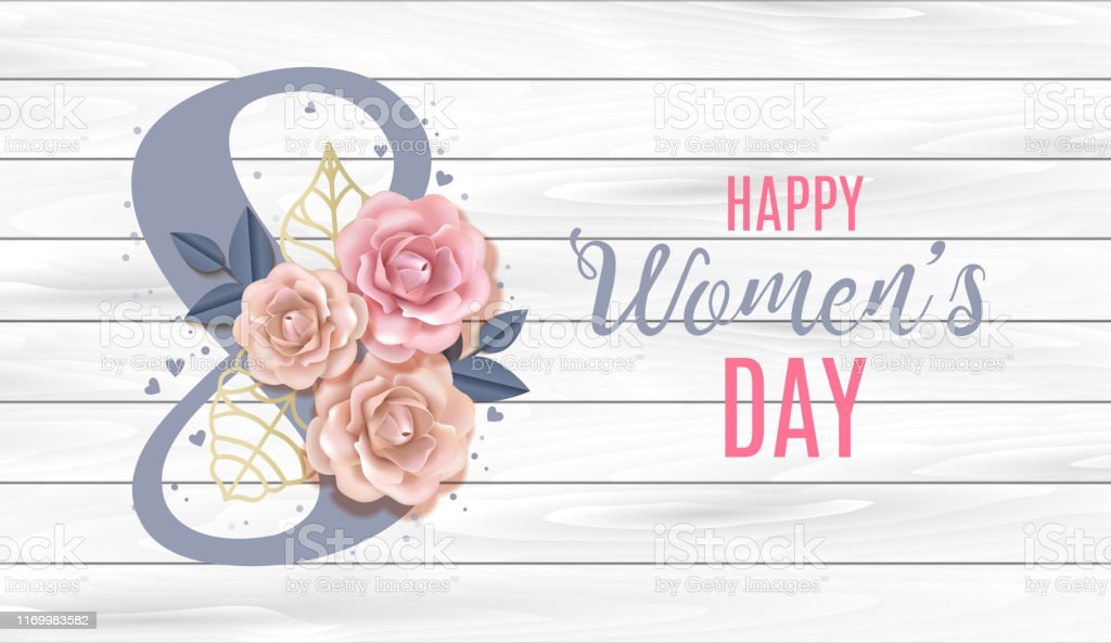Happy International Women\'s Day Vector Banner, flyer for March 8...