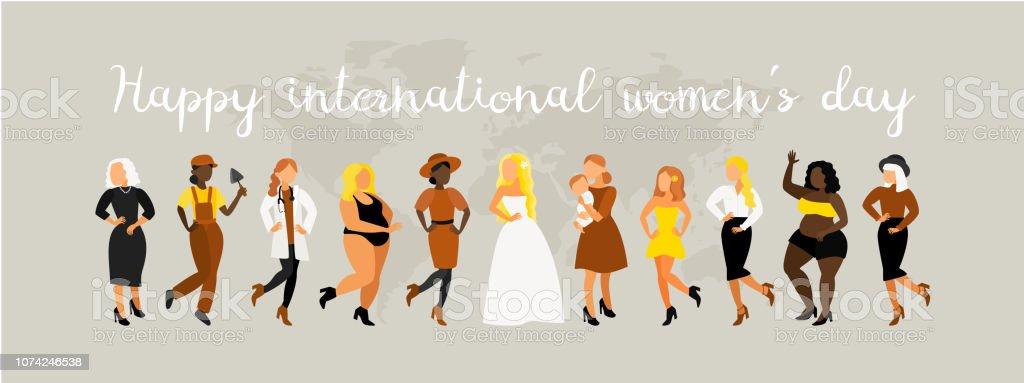 Bonne journée internationale des femmes. - Illustration vectorielle
