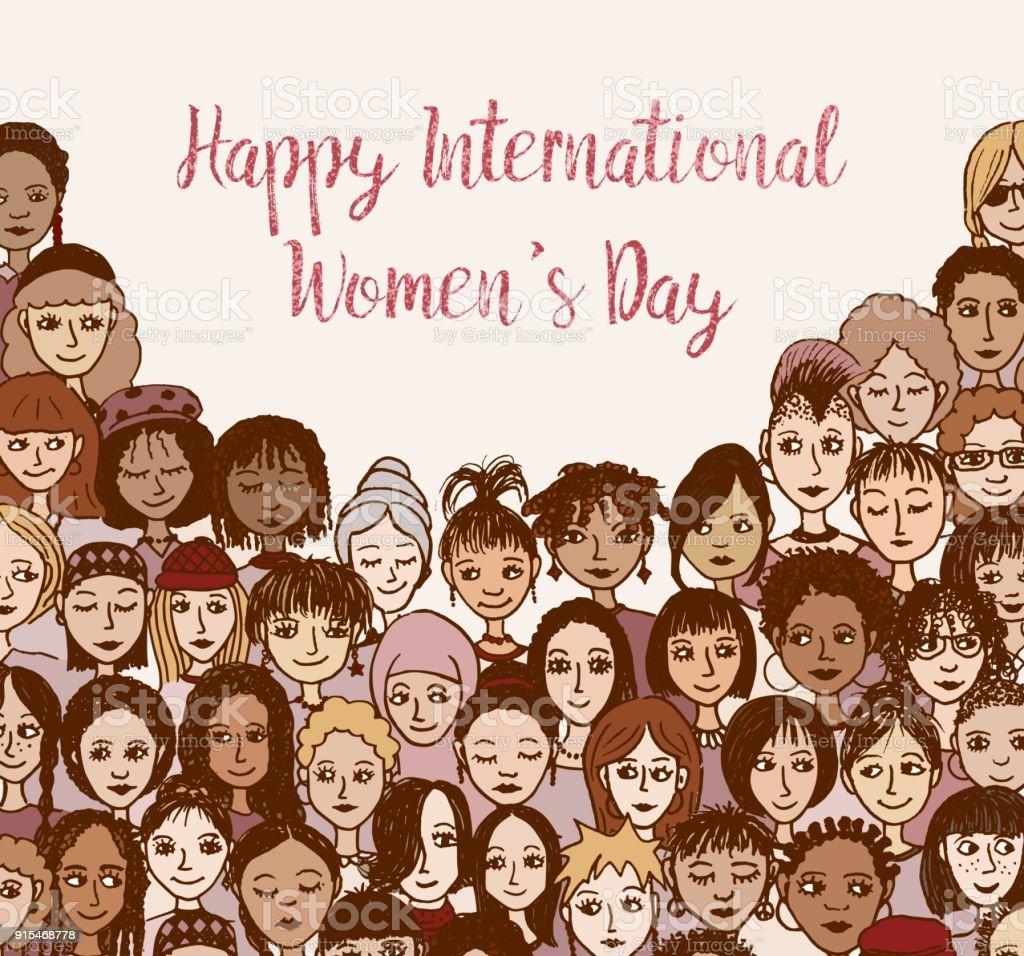 Happy International Women's Day! vector art illustration