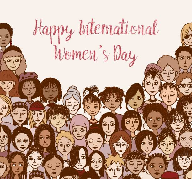 happy international women's day! - international womens day stock illustrations, clip art, cartoons, & icons