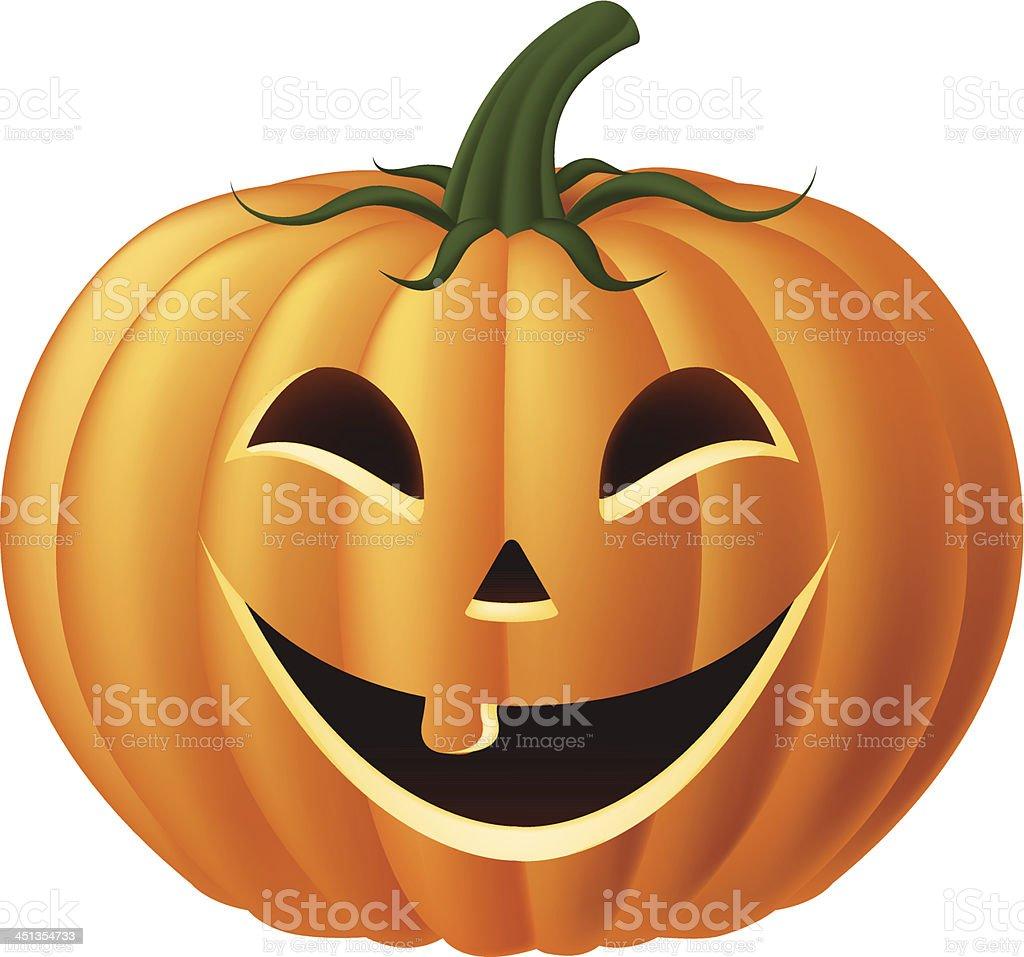 Happy Jack-O-Lantern Pumpkin royalty-free stock vector art