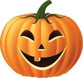 Happy Jack-O-Lantern Pumpkin