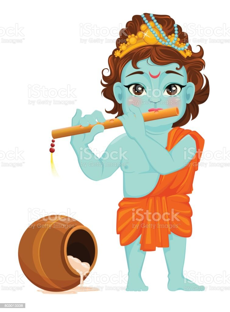 royalty free cartoon of baby krishna clip art vector images rh istockphoto com birthday clipart august birthday clipart for man