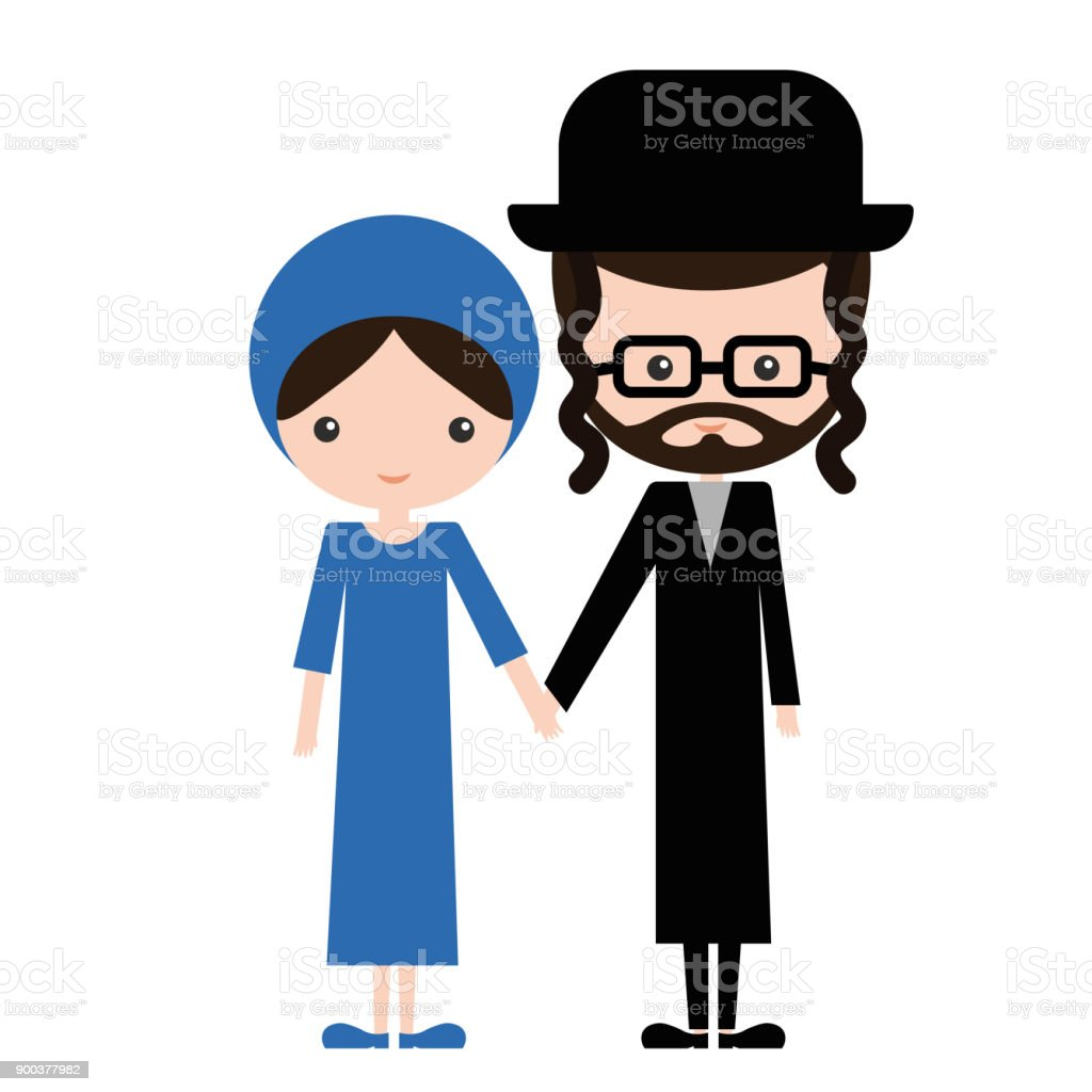 royalty free ultra orthodox jews clip art vector images rh istockphoto com orthodox cross clipart orthodox cross clipart