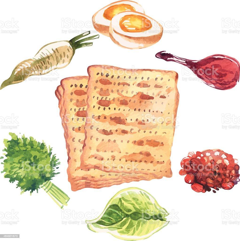 Happy Jewish Passover greeting card. Vector illustration vector art illustration