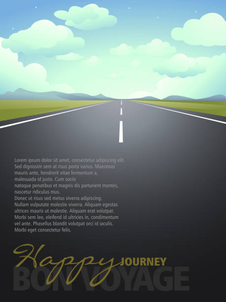 Happy Journey Background with Copy space vector art illustration