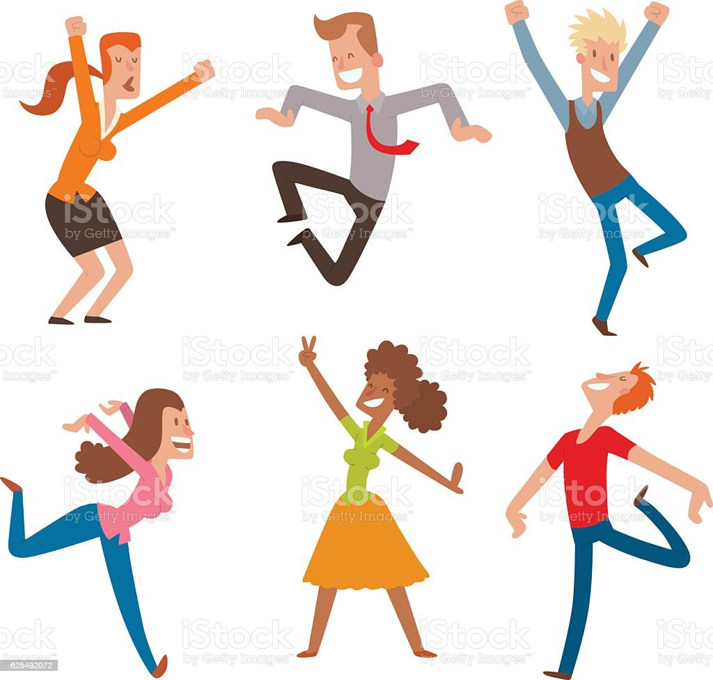 royalty free jump for joy clip art vector images