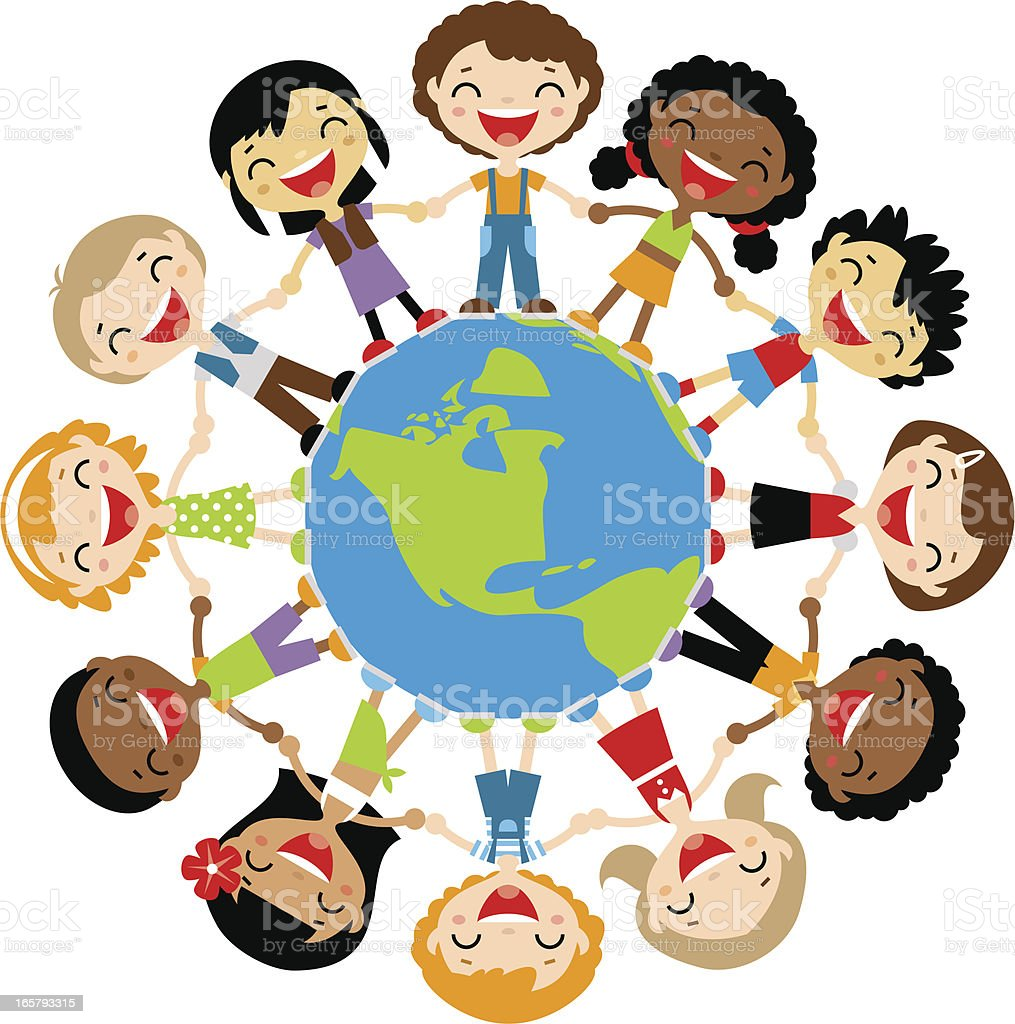 happy kids around the globe stock vector art amp more images
