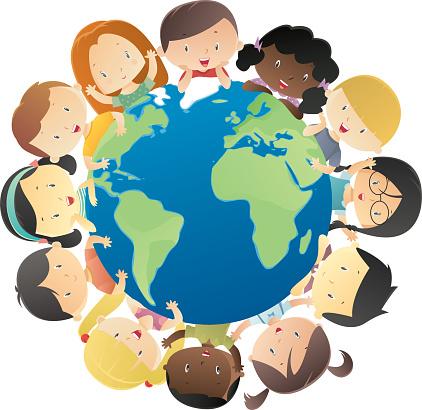 Happy kids around the globe