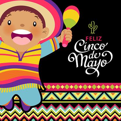 Happy Kids Celebrating Cinco De Mayo