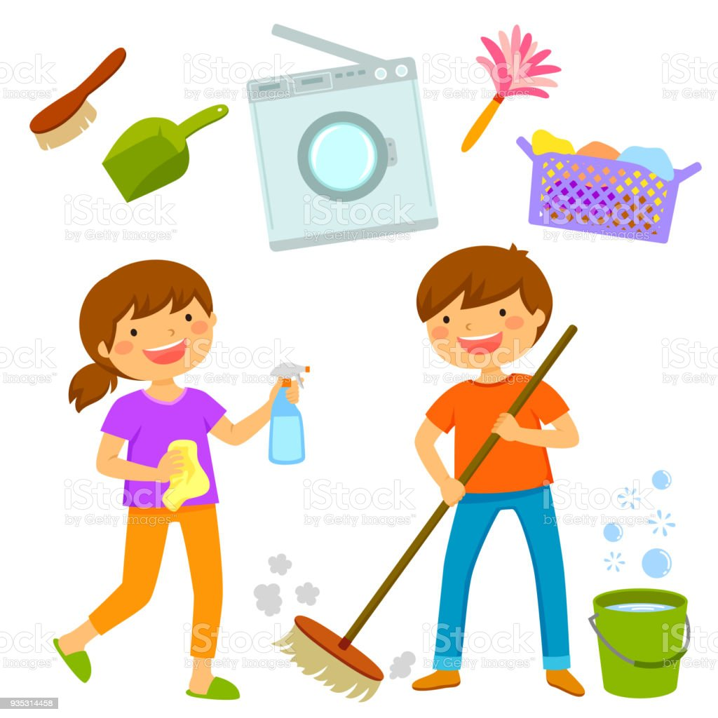 It's just a picture of Crush Clean House Drawing For Kids