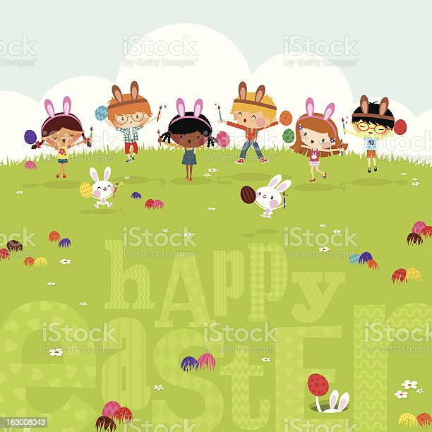 Happy kids easter eggs play bunny cute illustration vector myillo vector id163008043?b=1&k=6&m=163008043&s=612x612&h=nwrgp3m2oikcsxythducpg9tu6lgyfillnt tbrcu1m=