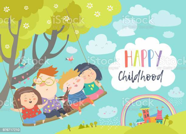 Happy kids flying on a swing vector id976717210?b=1&k=6&m=976717210&s=612x612&h=8ioehsfrueczcbzbmwik5kkw2xh1x9yokdbiwydwl3s=