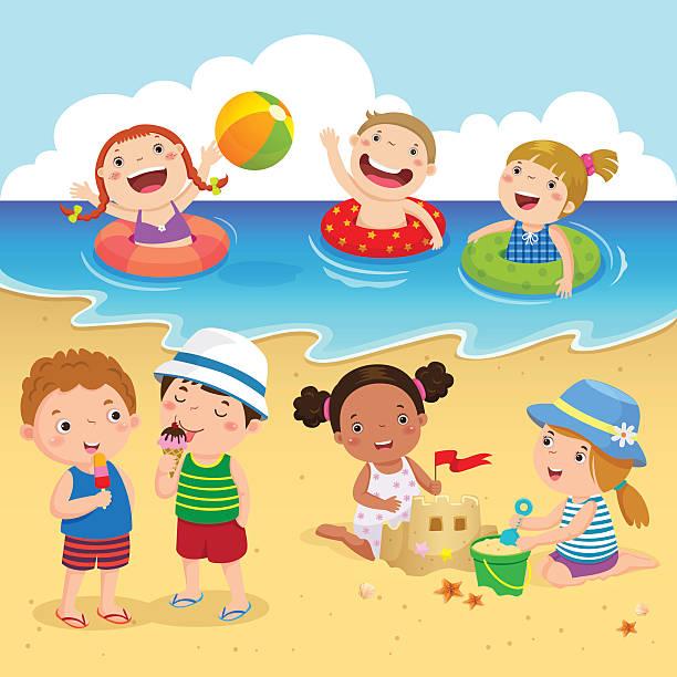 Royalty Free Beach Boy Clip Art, Vector Images ...