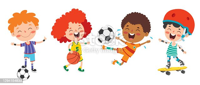 istock Happy Kids Making Various Sports 1294154833