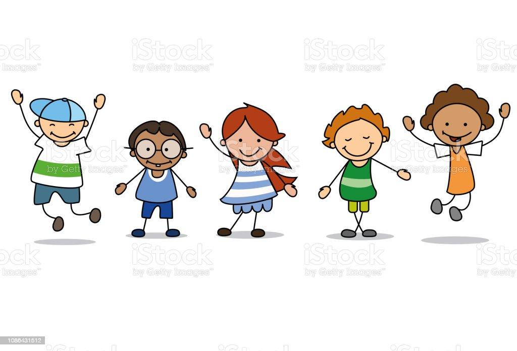 Kinder Spielen Clipart