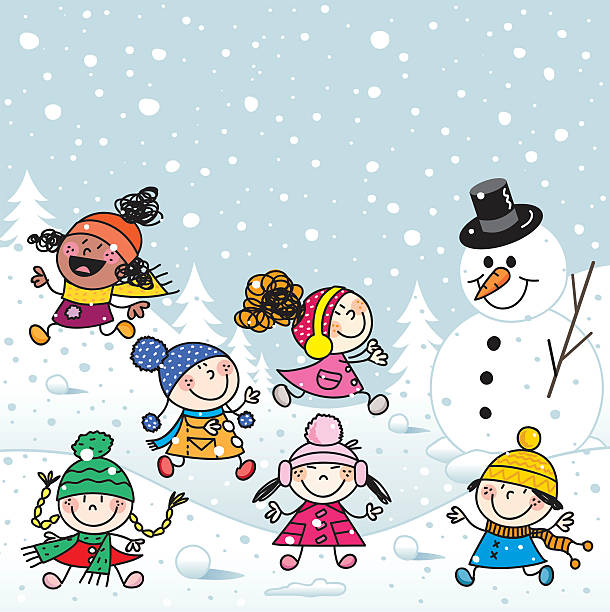 Image result for kids in snow free clipart