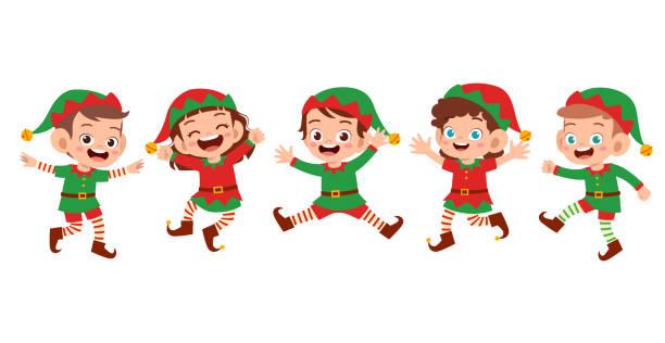 행복한 아이 미소 웃음 표정 세트 - 가공의 인물 stock illustrations
