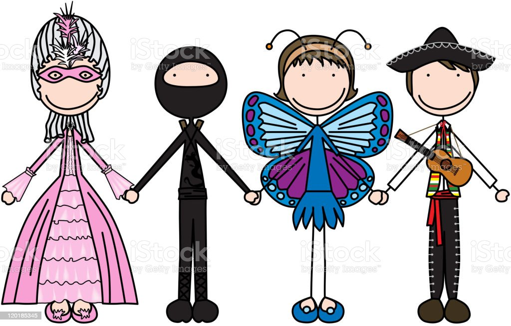 Glückliche Kinder Vektor Illustration 120185345   iStock
