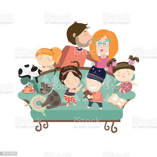 Happy kids with parents and pets vector id482638630?b=1&k=6&m=482638630&s=612x612&h=xhqkqnrvlmrmmxexo5p4plakaye1kfinhyn8qqqkhyw=