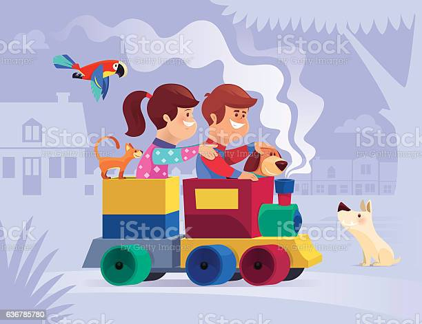 Happy kids with pets riding in toy train vector id636785780?b=1&k=6&m=636785780&s=612x612&h=mjkexttij5w5vkxml49ubt bmo3yqt kxq5odybrome=