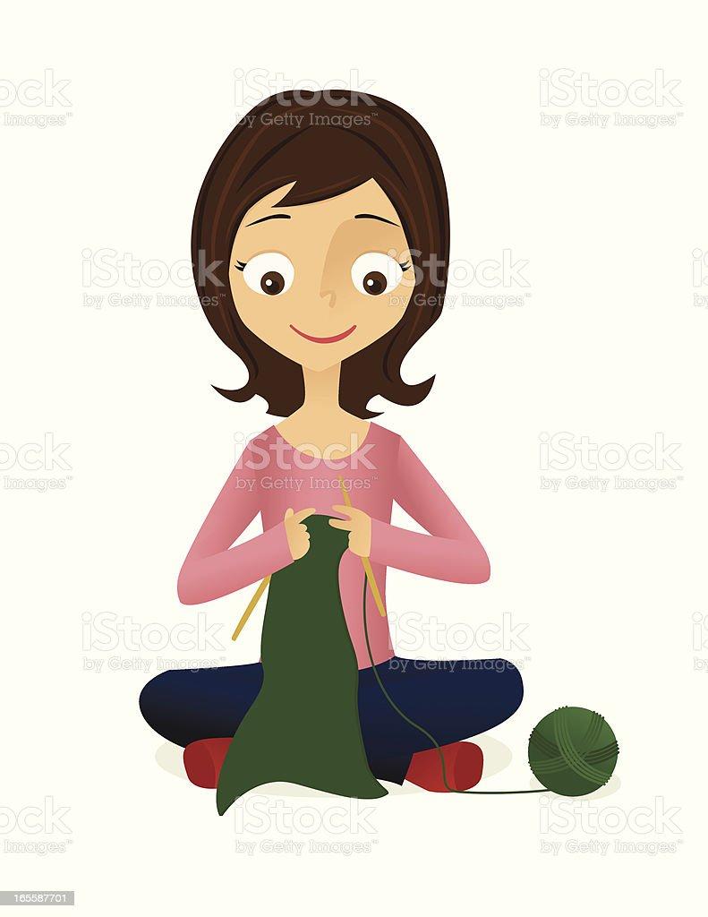 Happy Knitting vector art illustration