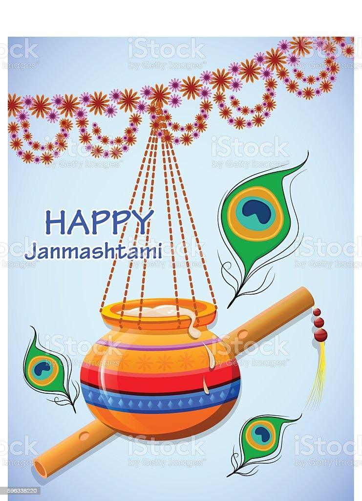 Happy Krishna Janmashtami. Greeting post card royalty-free happy krishna janmashtami greeting post card stock vector art & more images of ancient